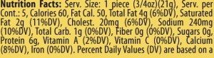 Applewood Nutrition Facts