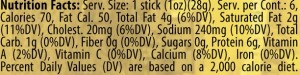 Applewood stick up nutrition facts