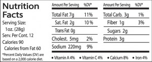 Italian JAL Nutrition facts