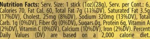 genoa stick up nutrition facts