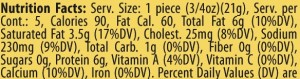 soppressata roll up nutrition facts