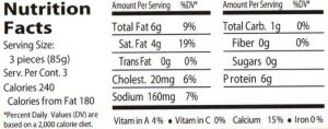genoa AW nutrition facts